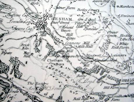Chesham Bois map of 1778