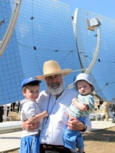 David Faiman with his grandchildren in Israel