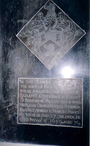 Memorial at Wavendon Church